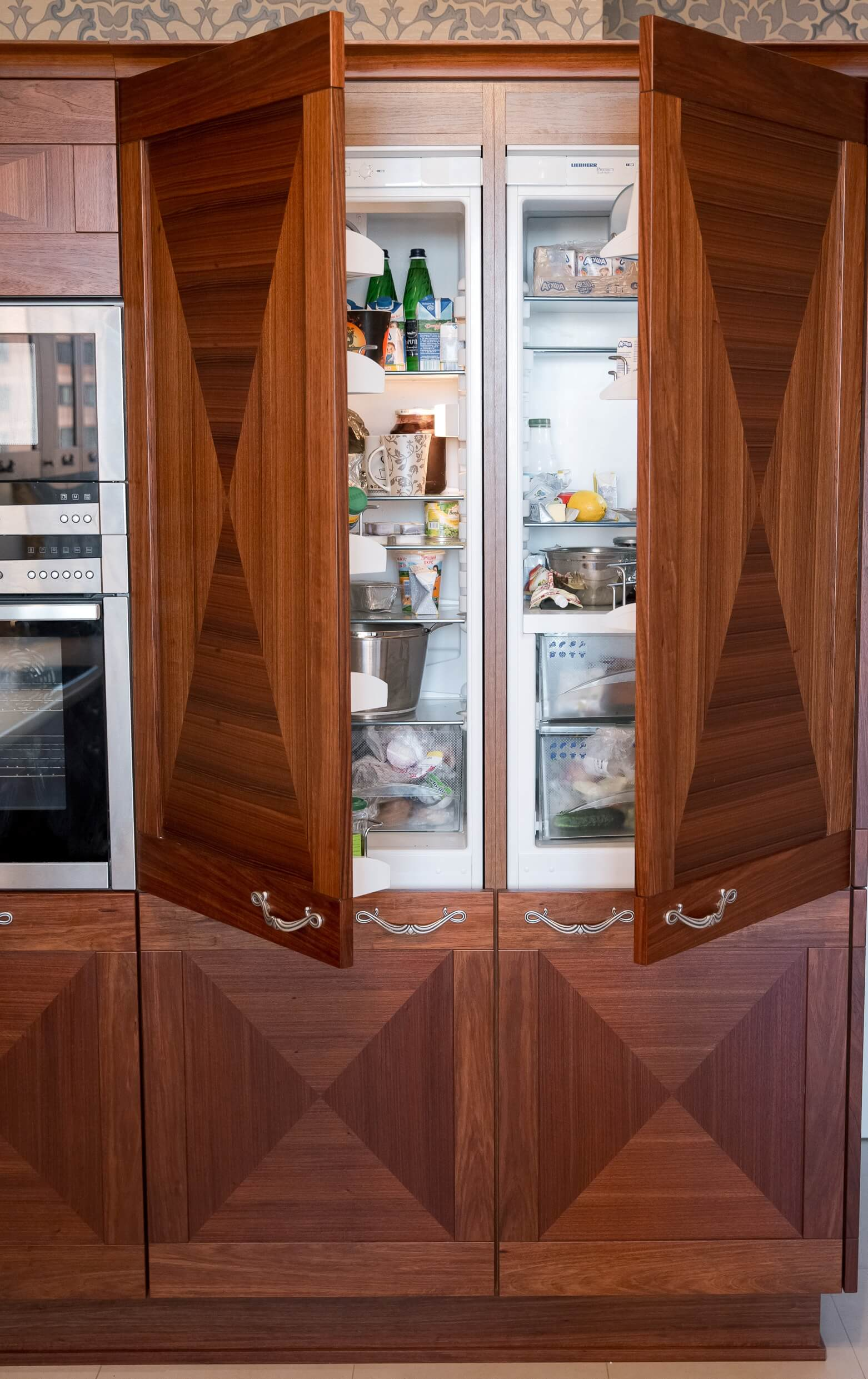 Senso Design Custom Kitchen Refrigerator Cabinet
