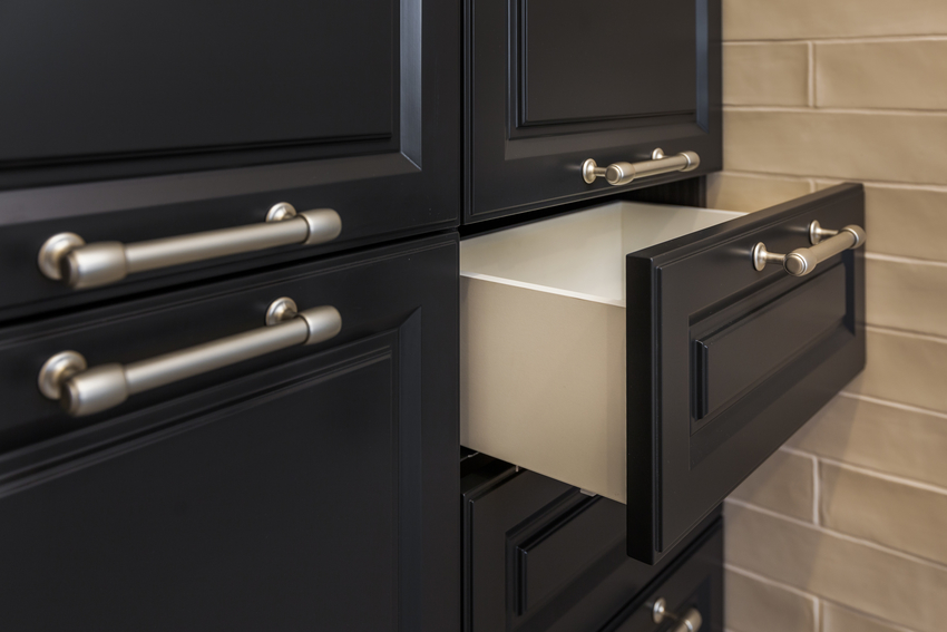 Dark closet cabinet