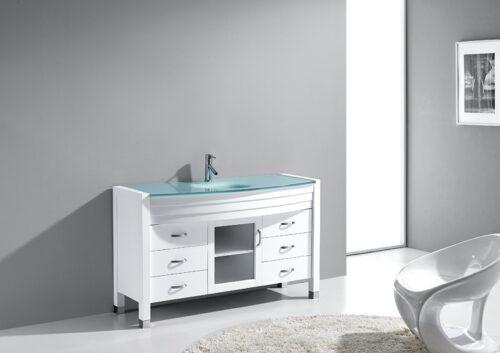 Agate 55 White Vanity