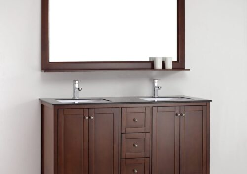 Amazonite 60 Inch Warm Brown Vanity