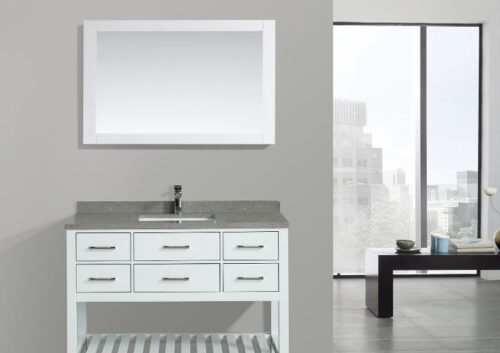 Aquarius 48 Inch White Vanity