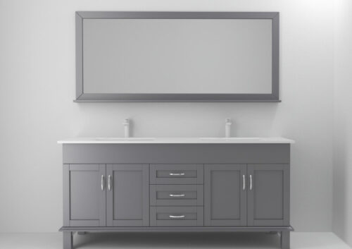 California Onyx 72 Inch Cashmere Grey Vanity