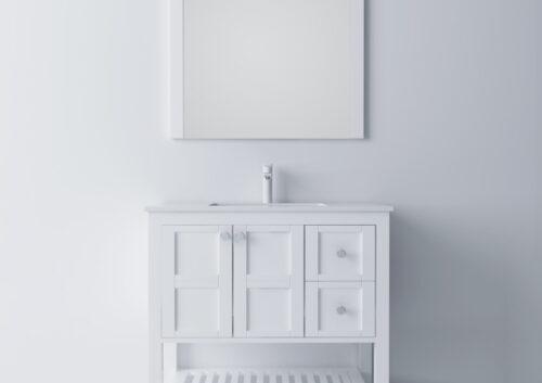 Columba 36 Inch White Vanity