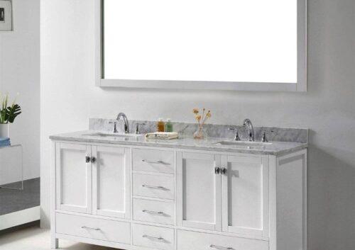 Corvus 72 Inch White Vanity