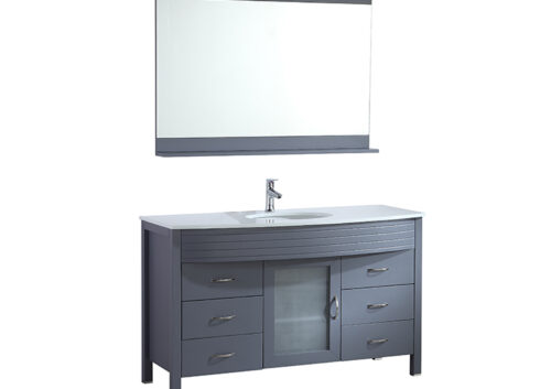 Diamond 55 Inch Charcoal Grey Vanity