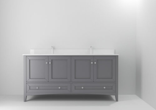 Hawthorn 72 Inch Shadow Grey Vanity
