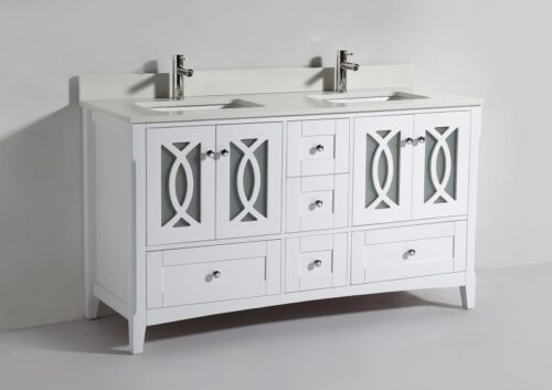 Heather 60 Inch White Ice Vanity