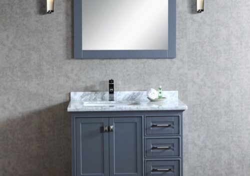 Lir 36 Inch Grey Vanity