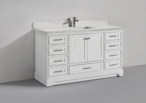 Lir 60 Inch White Ice Vanity