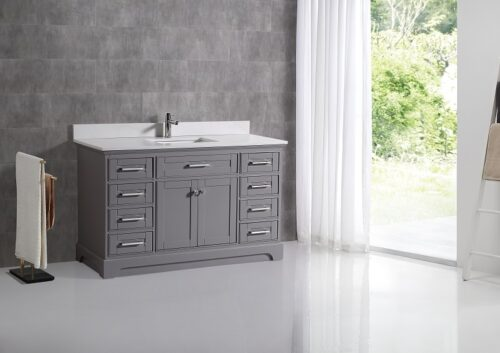 Snowberry 55 Inch Cashmere Grey Vanity