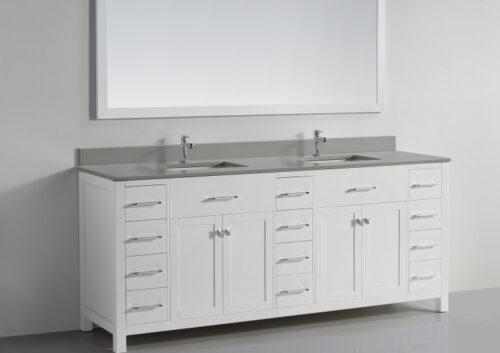 Vigo 78 Inch White Grey Vanity